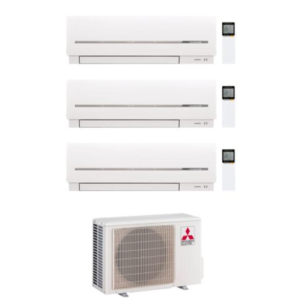 Aire acondicionado Multisplit 3x1 Inverter Mitsubishi MXZ 3F68VF + 2 unidades MSZ AP25VG + MSZ AP35VG (R32) (WIFI INCLUIDO)