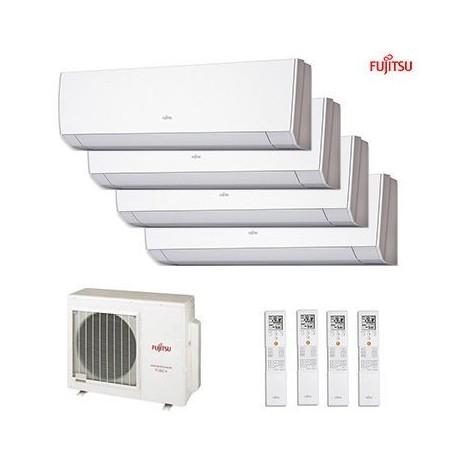 Aire acondicionado Multisplit 4x1 Inverter Fujitsu AOY80UIMI4 + ASY20MILMC + ASY20MILMC + ASY35MILMC + ASY35MILMC