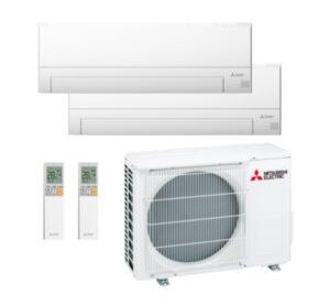 Aire acondicionado Multisplit 2x1 Inverter Mitsubishi MXZ 2F53VF + MSZ-BT25VGK + BT25VGK (R32) (WIFI INCLUIDO)